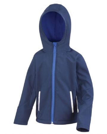TONGUE PRIMARY SCHOOL NAVY HOODED SOFTSHELL WITH LOGO